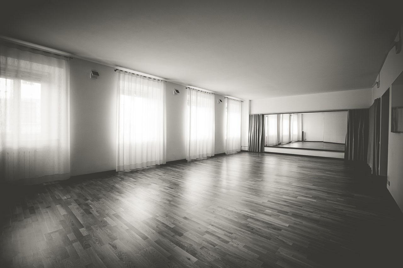 Uno spazio danzante che cambia in base alle esigenze.